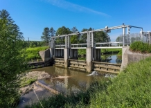 The dam on the Rudawa river.